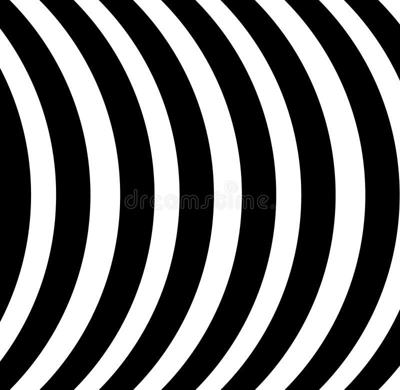 Zwart-witte van strepenlijnen curvy gestreepte geometrische abstracte vector als achtergrond vector illustratie