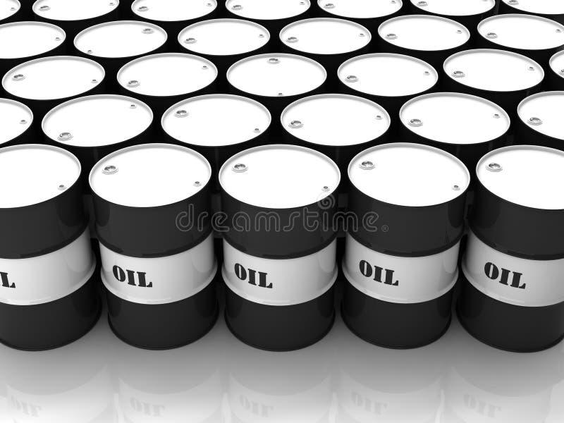 Zwart-witte vaten stock illustratie