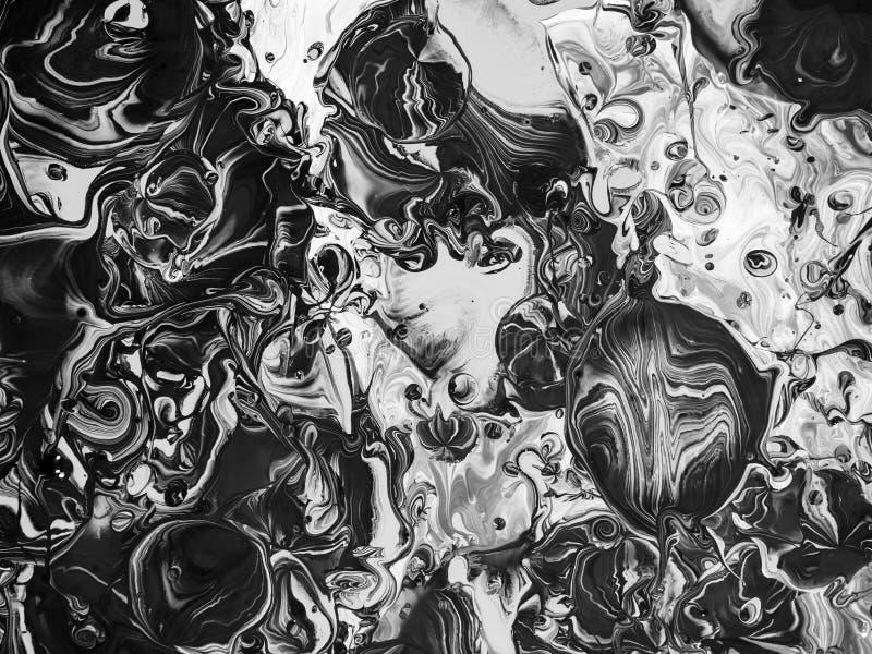 Zwart-witte Verftextuur vector illustratie