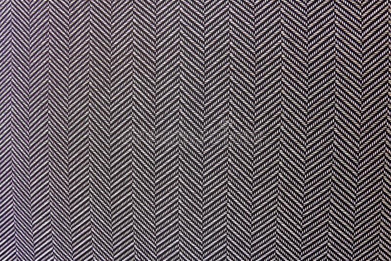 Zwart-witte Visgraat Textieltextuur stock fotografie