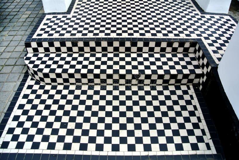 zwart-witte vloer royalty-vrije stock foto