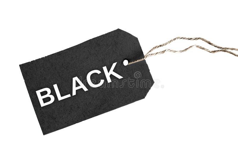 Zwart woord royalty-vrije stock foto's