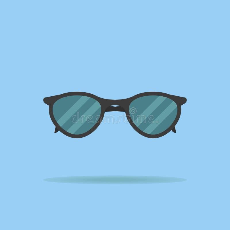 Zwart zonnebril vlak pictogram Vector illustratie vector illustratie