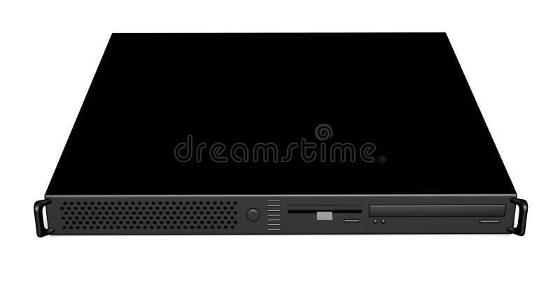Zwarte 19inch Server 3 vector illustratie