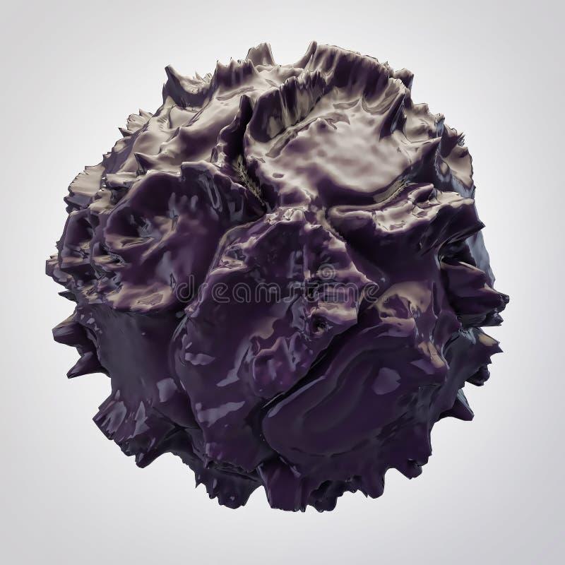 Zwarte 3d abstractie