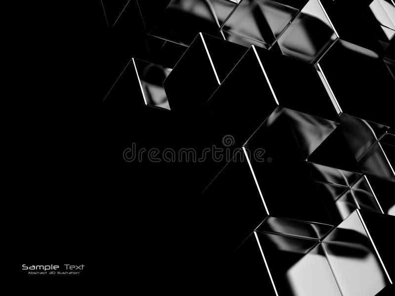 Zwarte abstracte achtergrond stock illustratie