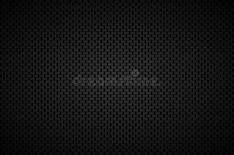 Zwarte abstracte achtergrond met zwarte rechthoeken en grijze kaders vector illustratie