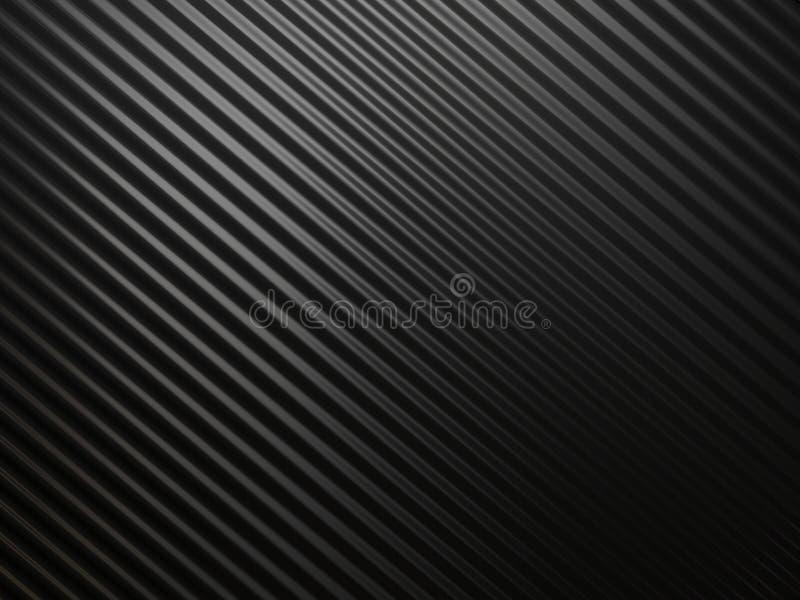 Zwarte abstracte metallachtergrond royalty-vrije illustratie