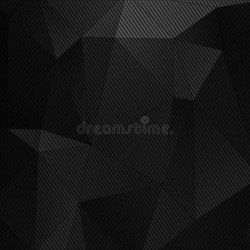 Zwarte abstracte technologieachtergrond royalty-vrije illustratie