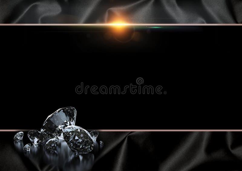 Zwarte achtergrond stock illustratie
