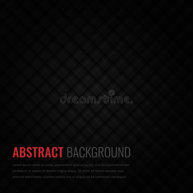 Zwarte achtergrond Abstract geometrisch malplaatje voor zaken Achtergrondtextuur met vierkant en driehoek Vector stock illustratie