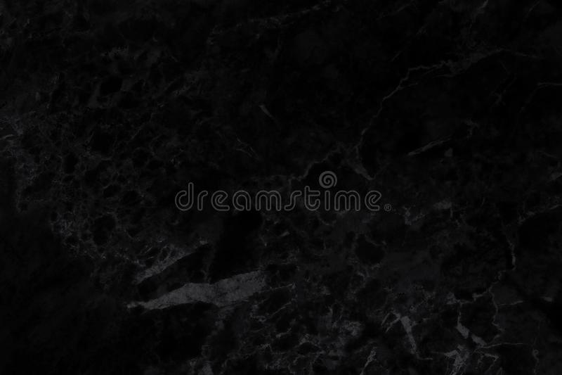 Zwarte achtergrond marmeren muurtextuur voor het werk van de ontwerpkunst, naadloos patroon van tegelsteen met helder en luxe royalty-vrije stock foto