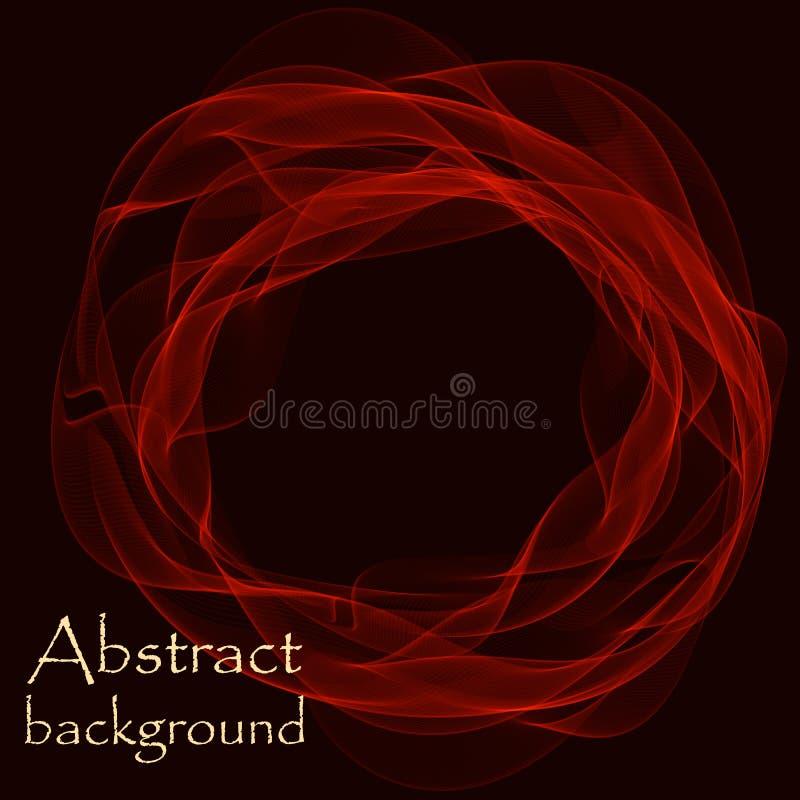 Zwarte achtergrond met abstracte lijnen in de vorm van golven vector illustratie