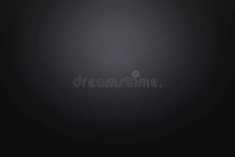 Zwarte achtergrond met gradiëntlicht royalty-vrije stock afbeelding