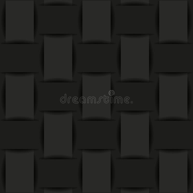 Zwarte achtergrond van geweven stof of document royalty-vrije illustratie