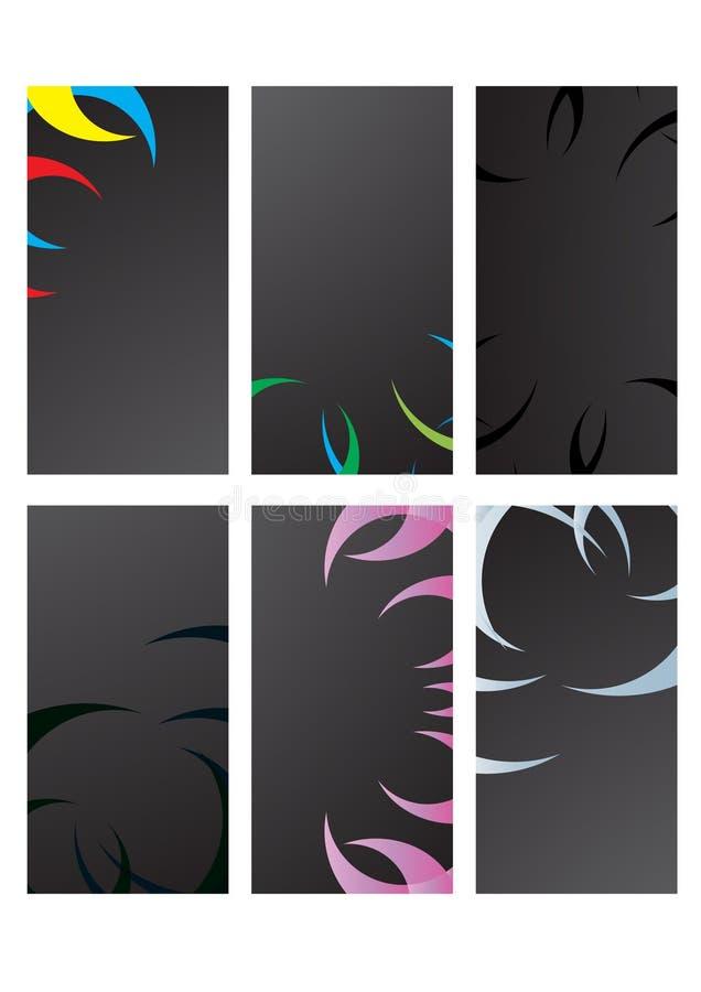 Zwarte adreskaartjes stock illustratie