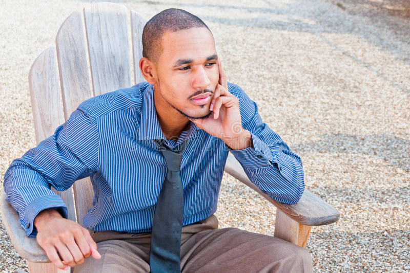 Zwarte Afrikaanse Amerikaanse Professionele Mens royalty-vrije stock afbeelding