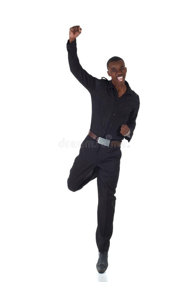 Zwarte Afrikaanse zakenman royalty-vrije stock afbeelding