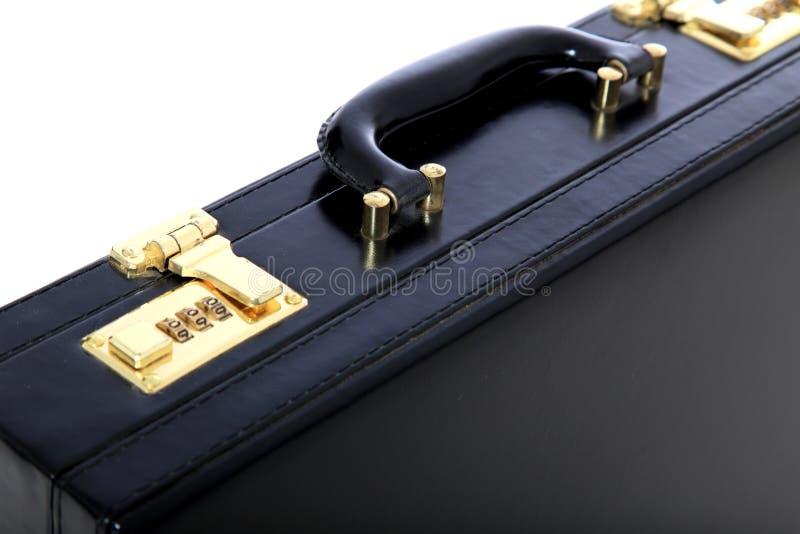 Zwarte aktentas stock afbeelding