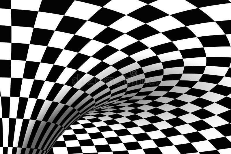 Zwarte & Witte betegelde achtergrond stock illustratie
