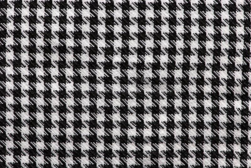 Zwarte & Witte stoffentextuur stock afbeeldingen