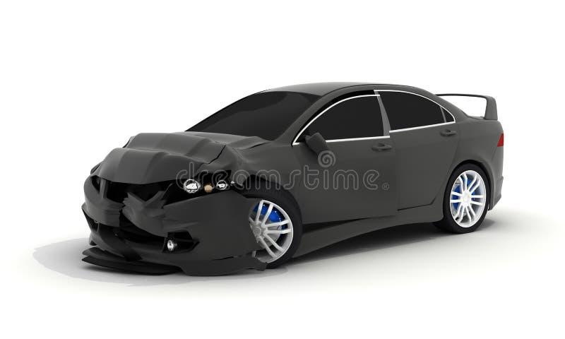 Zwarte autoverbrijzeling royalty-vrije illustratie