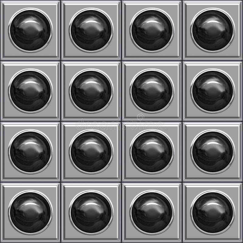 Zwarte baldozen stock illustratie