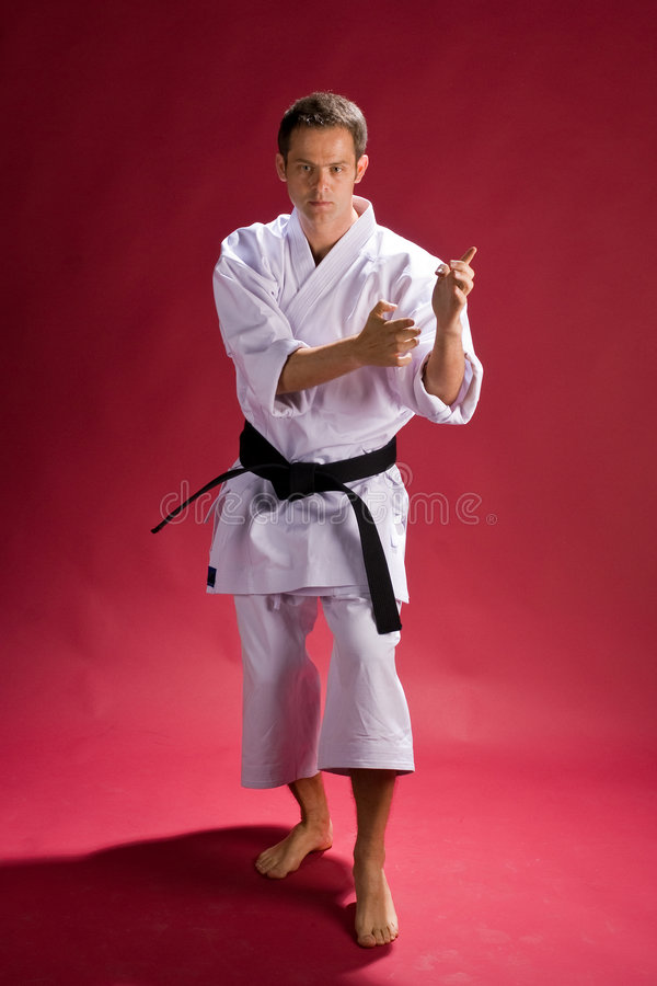 Zwarte band in karate stock foto