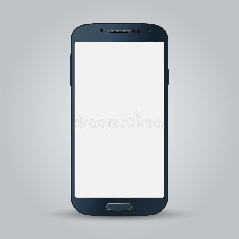 Zwarte bedrijfs mobiele telefoonstijl op witte achtergrond royalty-vrije illustratie