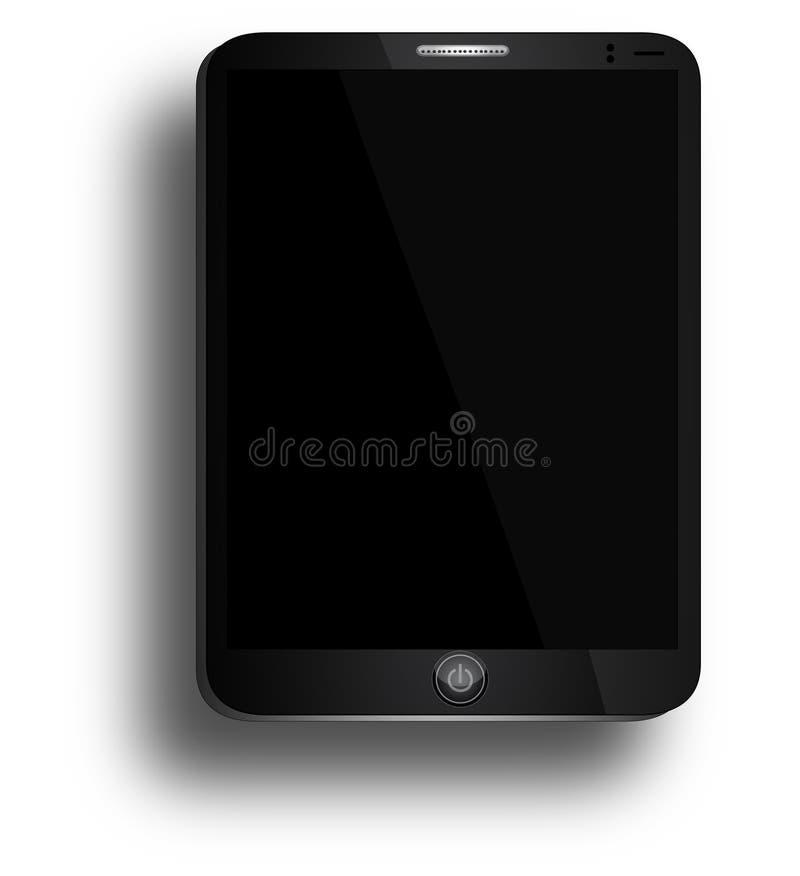 Zwarte Bedrijfstablet Gelijkend op iPadlucht met Machtsknoop vector illustratie