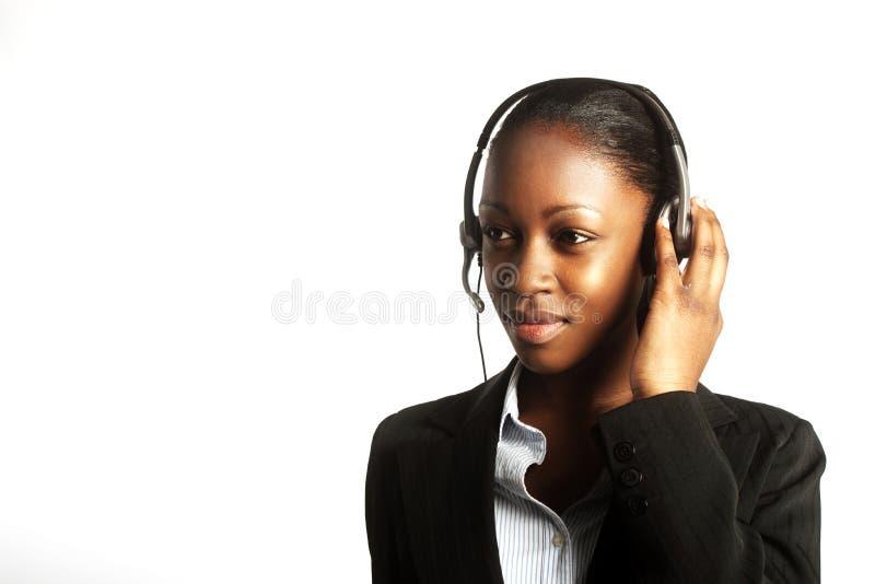 Zwarte bedrijfsvrouw stock foto's