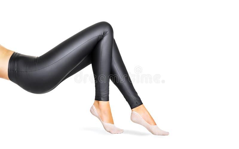 Zwarte beenkappen in het concept van de schoonheidsmanier stock afbeelding