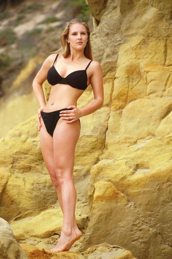 Zwarte bikini 4 royalty-vrije stock afbeeldingen