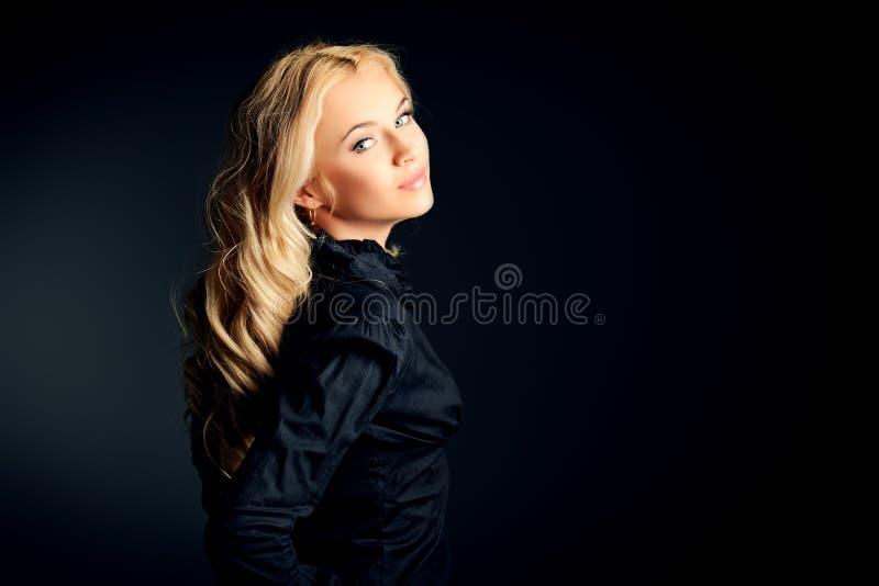 Zwarte blouse stock foto