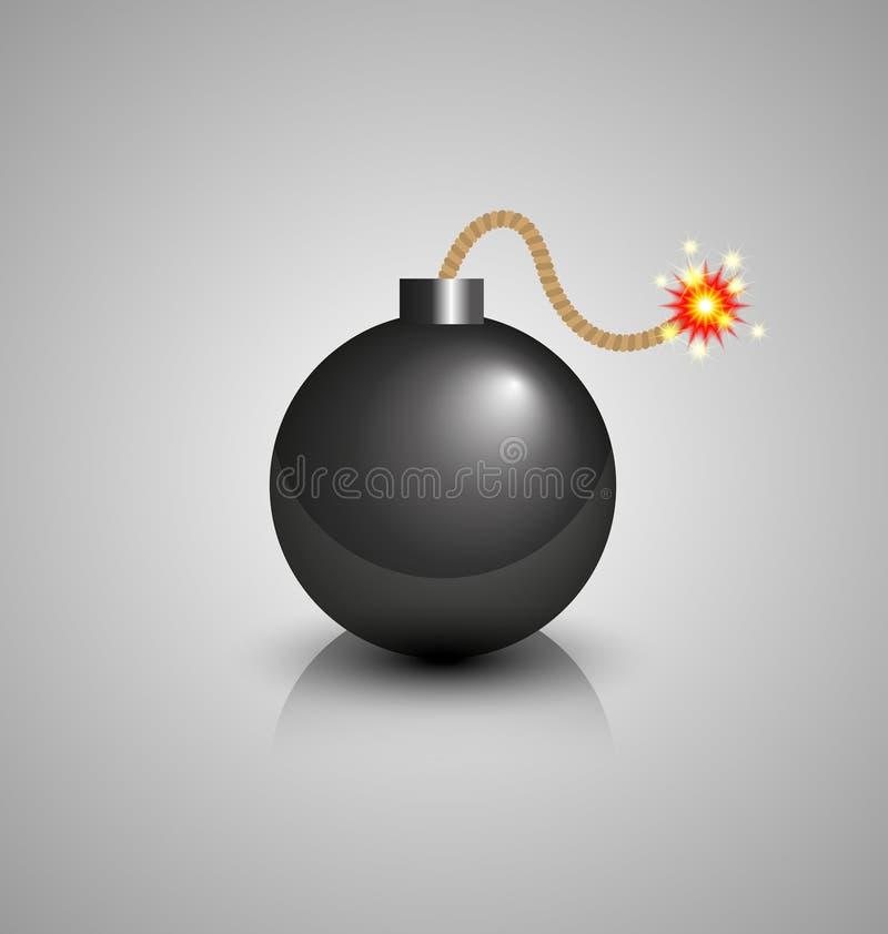 Zwarte bom vector illustratie