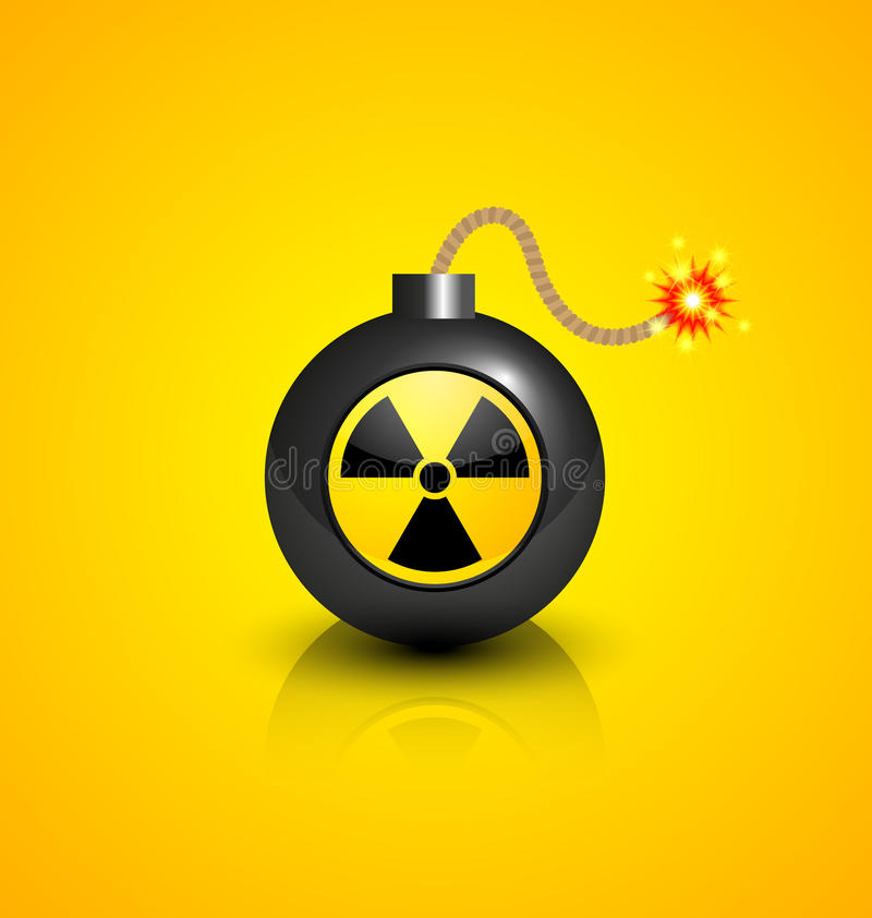 Zwarte atoombom royalty-vrije illustratie