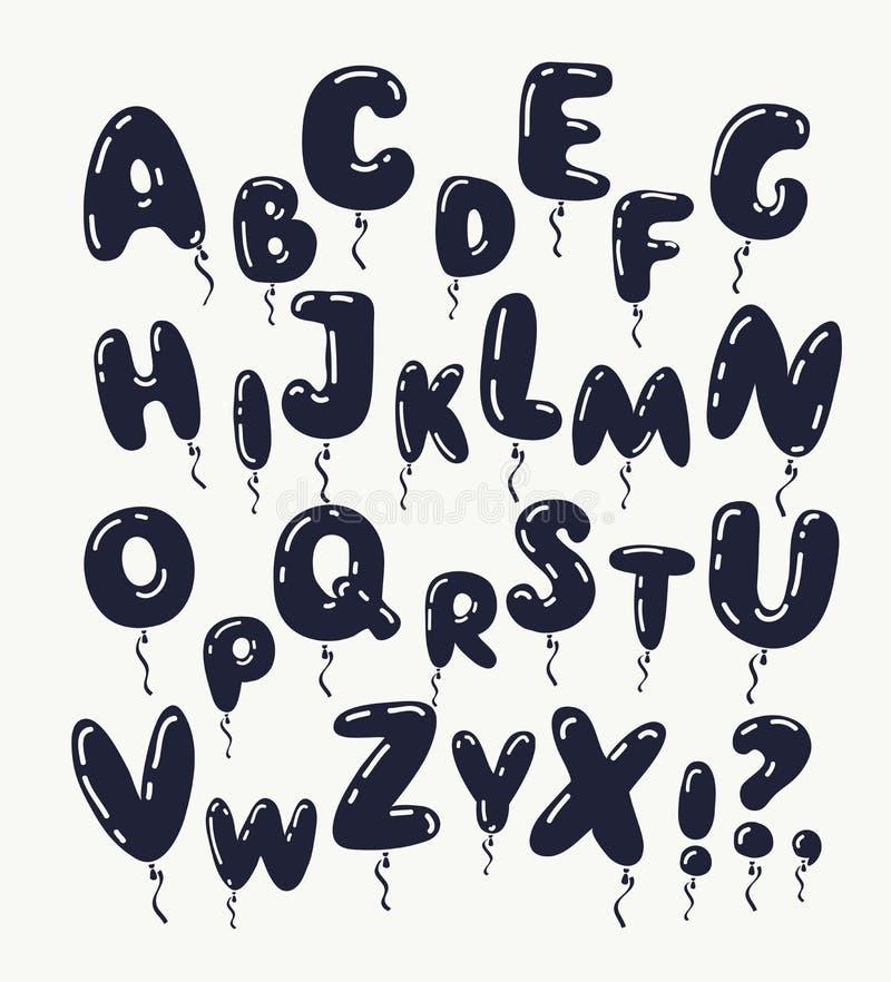 Zwarte brieven royalty-vrije illustratie