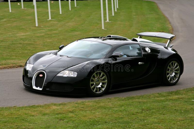 Zwarte bugatti veyron royalty-vrije stock foto's