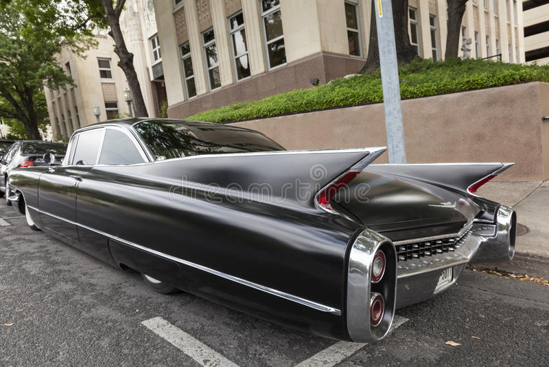 Zwarte Cadillac-Eldorado Sevilla royalty-vrije stock afbeelding