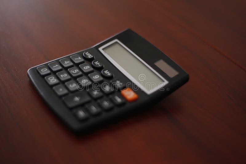 Zwarte calculator royalty-vrije stock fotografie