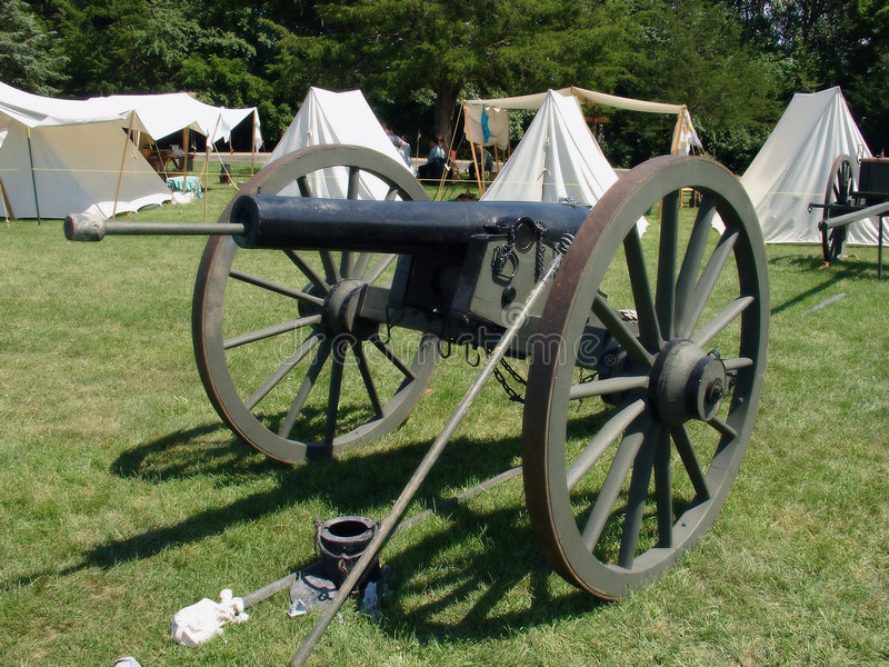Zwarte canon vier stock afbeeldingen