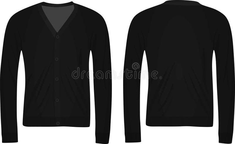 Zwarte cardigan vector illustratie