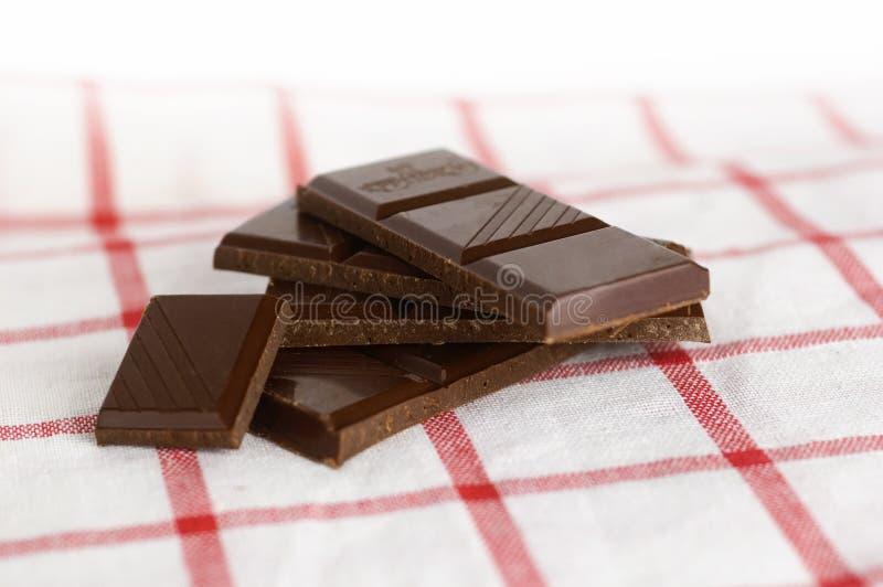 Zwarte chocolade stock afbeelding