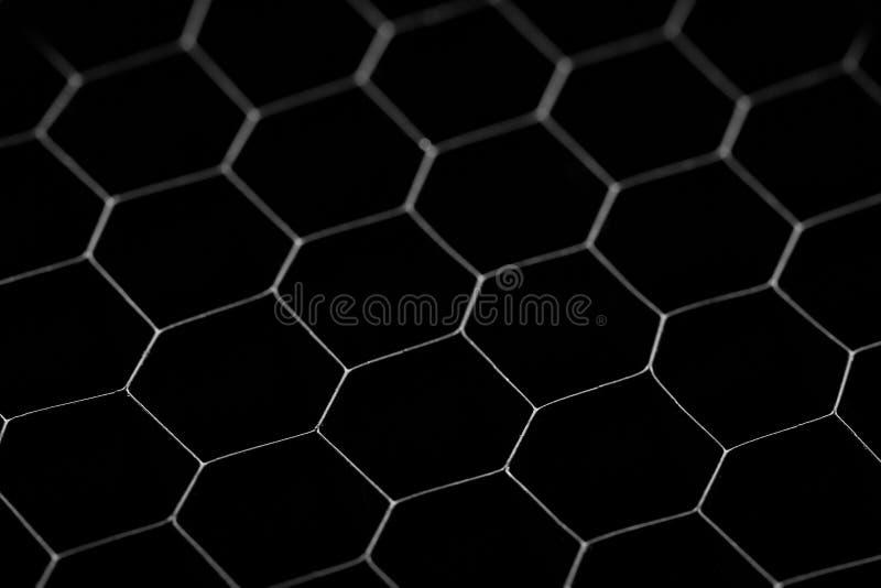 Zwarte cirkelachtergrond Staalgrating, textuur zwart net stock afbeeldingen