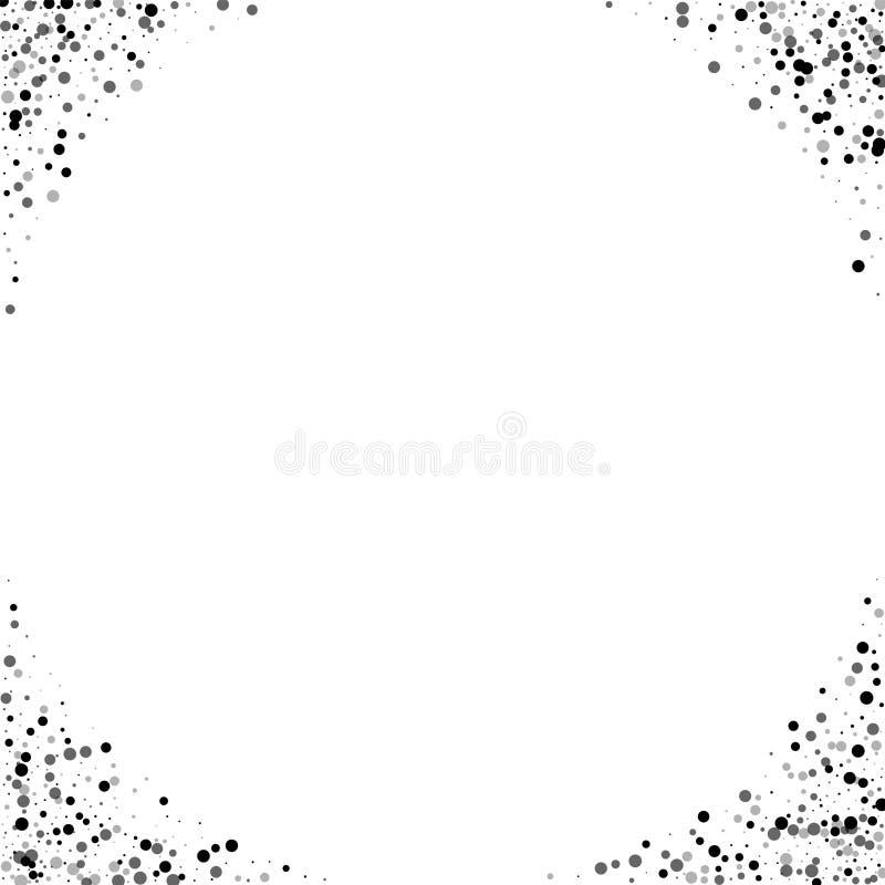 Zwarte czerni kropki ilustracja wektor