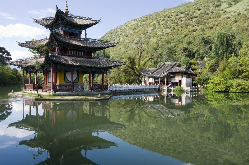 Zwarte de draakpool van Lijiang stock afbeelding