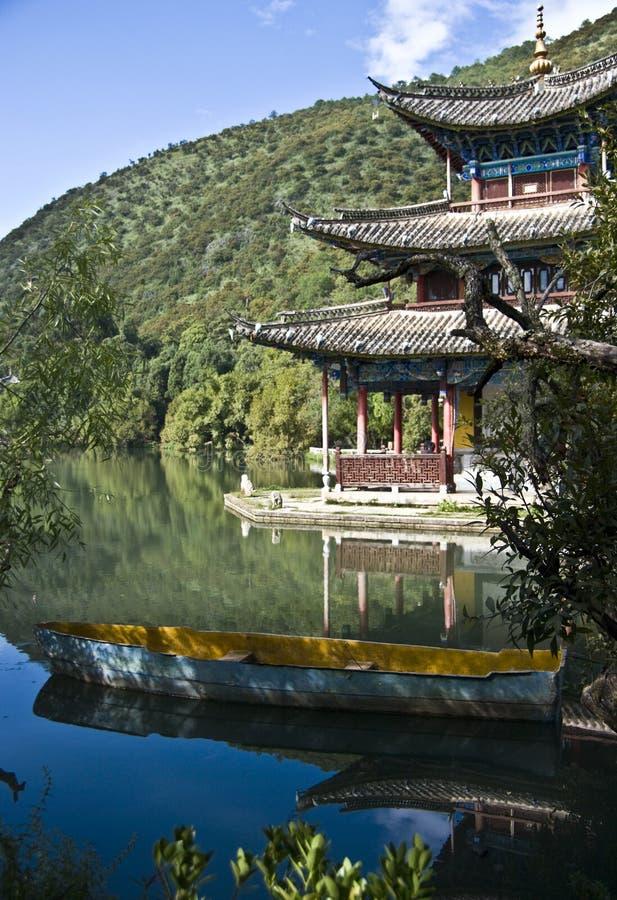 Zwarte de draakpool van Lijiang royalty-vrije stock fotografie