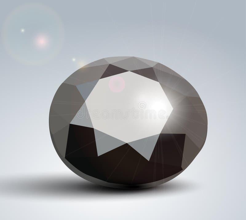 Zwarte Diamant royalty-vrije illustratie