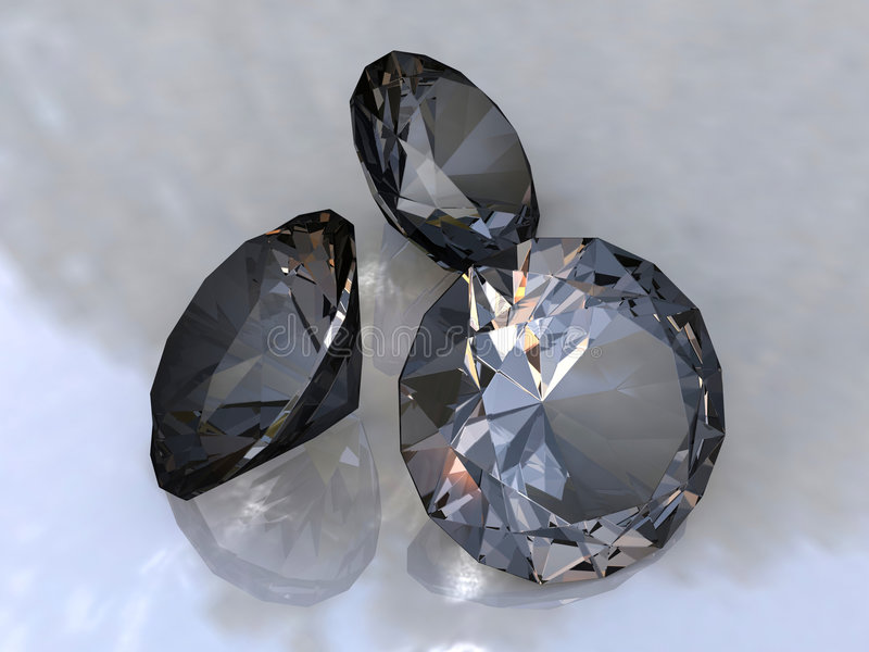 Zwarte diamanten royalty-vrije illustratie