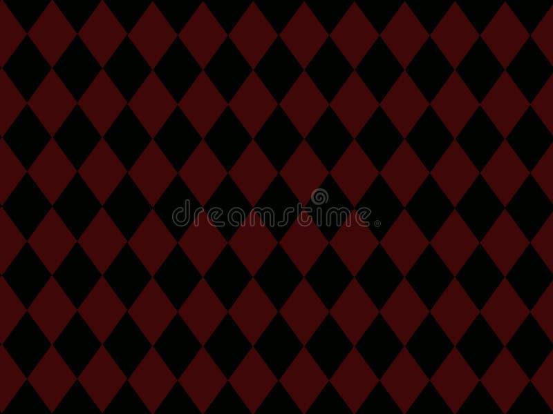 Zwarte Diamanten op de Rode Achtergrond van de Baksteen stock illustratie